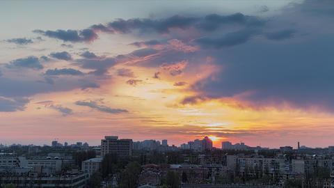 City Sunset 2 4 K stock footage