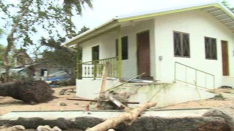Hurricane Storm Surge Damage To Building Footage