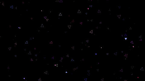 Flash Triangle Particles stock footage
