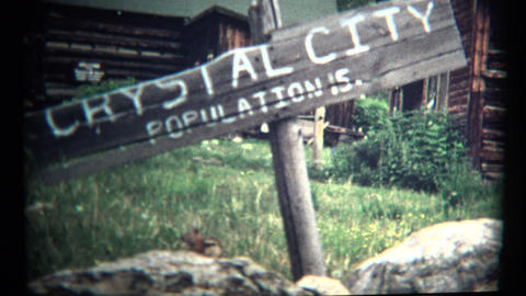 (1960's 8mm Vintage) Crystal City Mountain Town of 15 People Footage