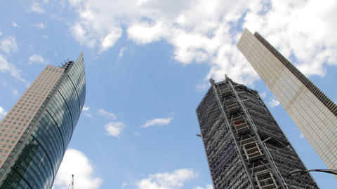 Mexico City, Mexico-CIRCA June, 2014: Set Of Buildings Timelapse stock footage