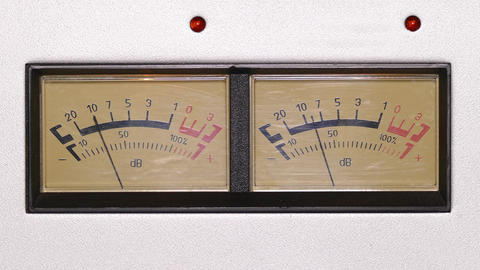 stereo decibel meters - part of sound equipment - 4k Footage