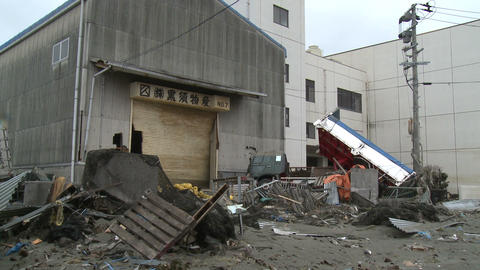 Tsunami Destruction And Aftermath In Japan ビデオ