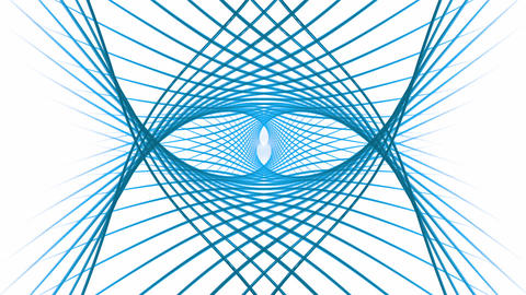 Blue Wires Rotating Animation
