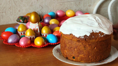 Easter cake Footage