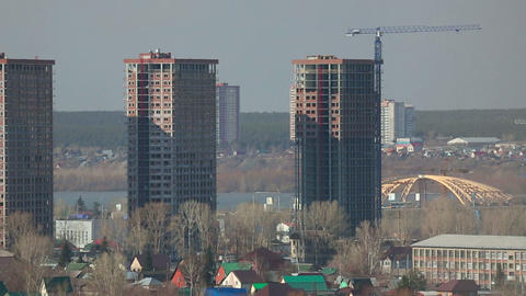 Buildings Novosibirsk stock footage