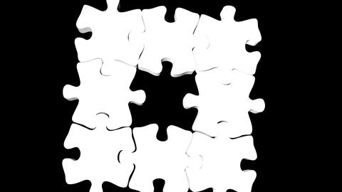 moving puzzle piees Animation
