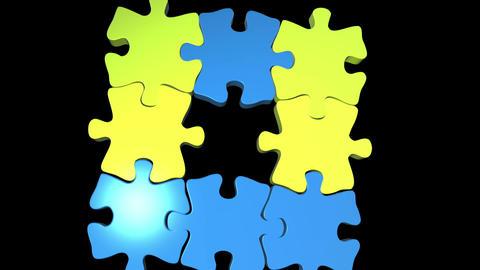 puzzle pieces Animation