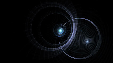 Blue planet, energy stream in space Animation