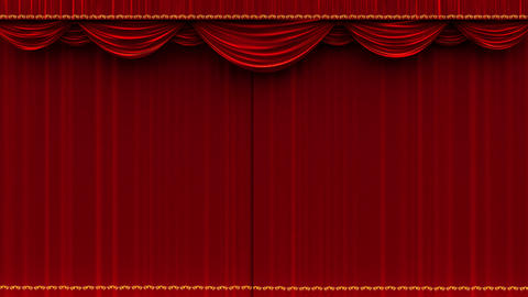 4K Theater curtain opening with alpha matte Stock Video Footage