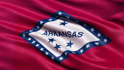 4K Arkansas state flag seamless loop Ultra-HD Animation