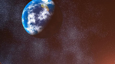 Earth view from Nibiru Animation