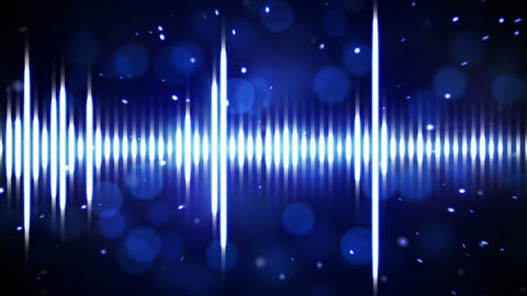 blue digital equalizer loopable background Animation