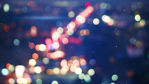 Defocused Lights Of Night Traffic Seamless Loop 4k (4096x2304) stock footage