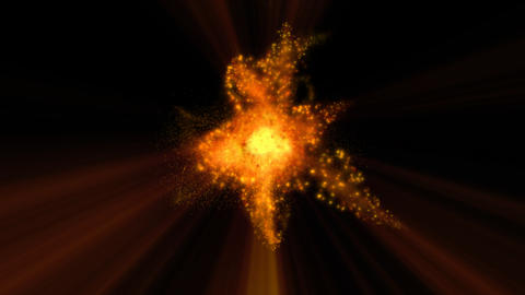 Big Explosion Star Sparks Loop Alpha stock footage