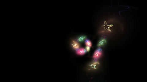 Colorful Sparkling Holiday Background Animation