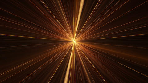 Orange Rays of Light, Twinkling Light Streaks Animation