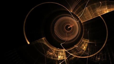 Golden Metal Gear Wheels , Ancient Clock Mechanism Videos animados