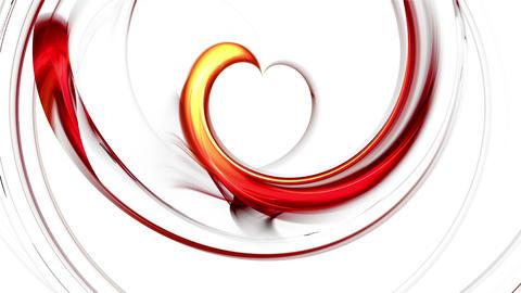 Dynamic Fiery Red Heart Animation
