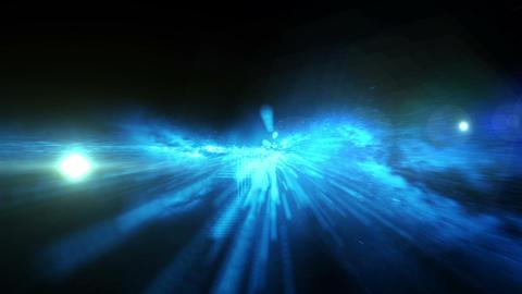 Galaxy Birth Spiral Flight Blue stock footage