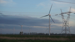 Wind Turbines 9 stock footage
