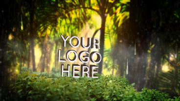 Logo 3 D In Nature 7( Rainy Forest ) Template After Effect