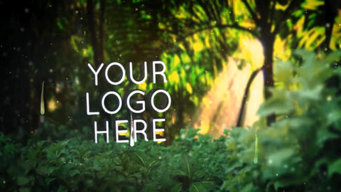 Logo 3 D In Nature 7( Rainy Forest ) After Effects Template