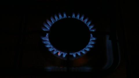 Gas burning top Footage