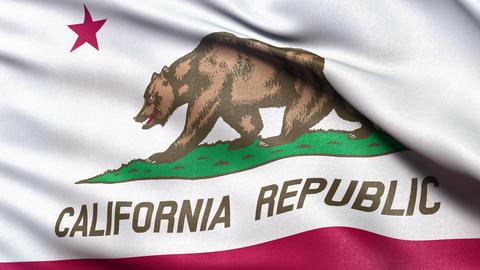4K California state flag seamless loop Ultra-HD Stock Video Footage