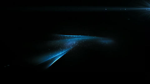 Blue Motion With Flare And Particles Animation