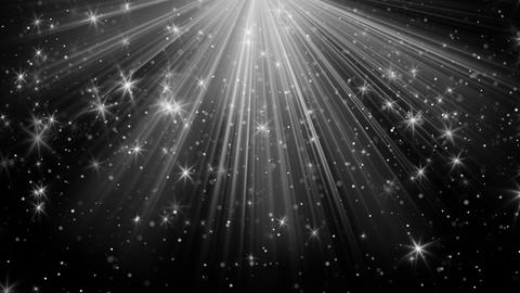 light rays and stars on black loopable background 4k (4096x2304) Animation