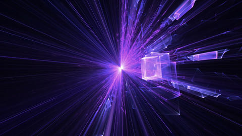 Violet and Purple Blast With Rays Of Light, Explosion Animation