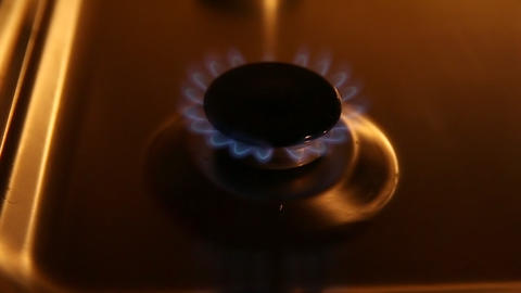 Slow gas burning Footage