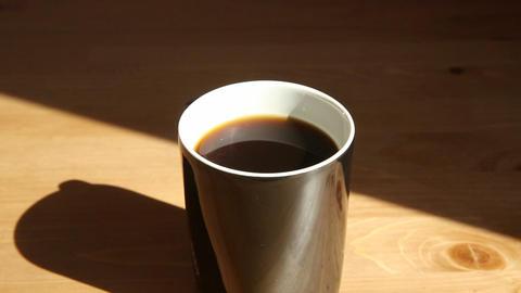 Hot Coffee Mug stock footage