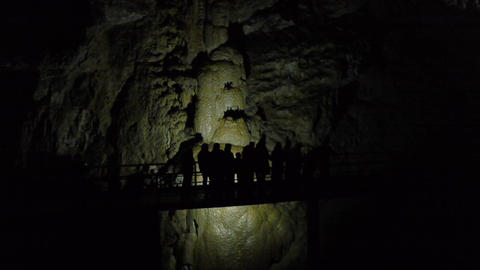 Tourists in Karst Cave 1 Live Action