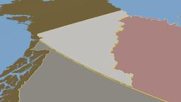 Yukon - Canada territory extruded. Solids Animation