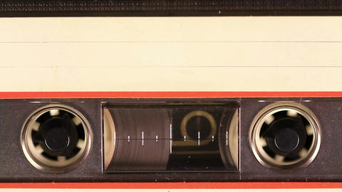 Cassette Tape With A White Blank Label stock footage