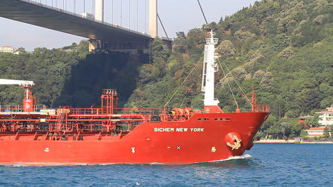 Chemical Products Tanker Ship Footage