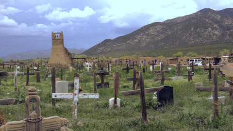 Primitive Cemetery Pueblo Native American Burial Site Footage