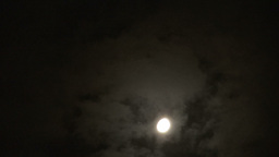 Full Moon With Clouds Passing Footage
