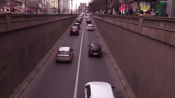 Traffic In Bucharest, Romania, Motion Speed stock footage