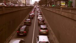 Traffic in Bucharest, Romania Footage