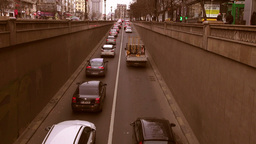 Traffic In Bucharest, Romania stock footage