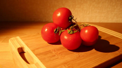 Tomatoes with water drops Footage