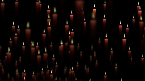 Candles Particles 01 CG動画素材