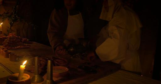 butcher sausage 02 Footage