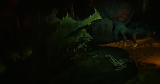 dragon smoke close up 01 Footage