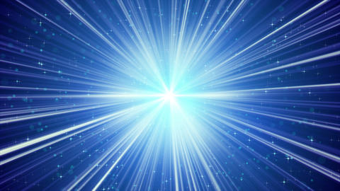 blue shining light rays and stars loopable background 4k (4096x2304) Animation