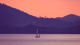 Windsurfing in Sunset Light Footage