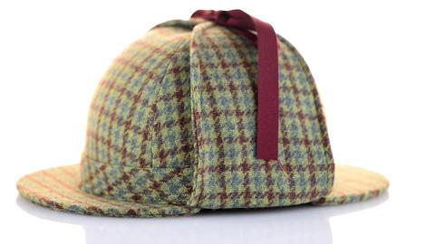 British Deerhunter or Sherlock Holmes cap Footage